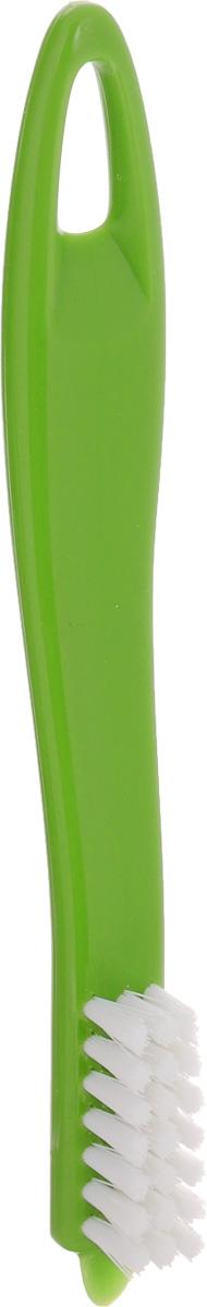 Щетка для чистки овощей Tescoma Presto, цвет: зеленый, длина 18,5 см420220Щетка Tescoma Presto, выполненная из прочного пластика, отлично подходит для очистки картофеля, корнеплодов, фруктов, грибов и многого другого. Изделие имеет острый конец для удаления глазков и скребок для удаления грязи. Не рекомендуется мыть в посудомоечной машине.