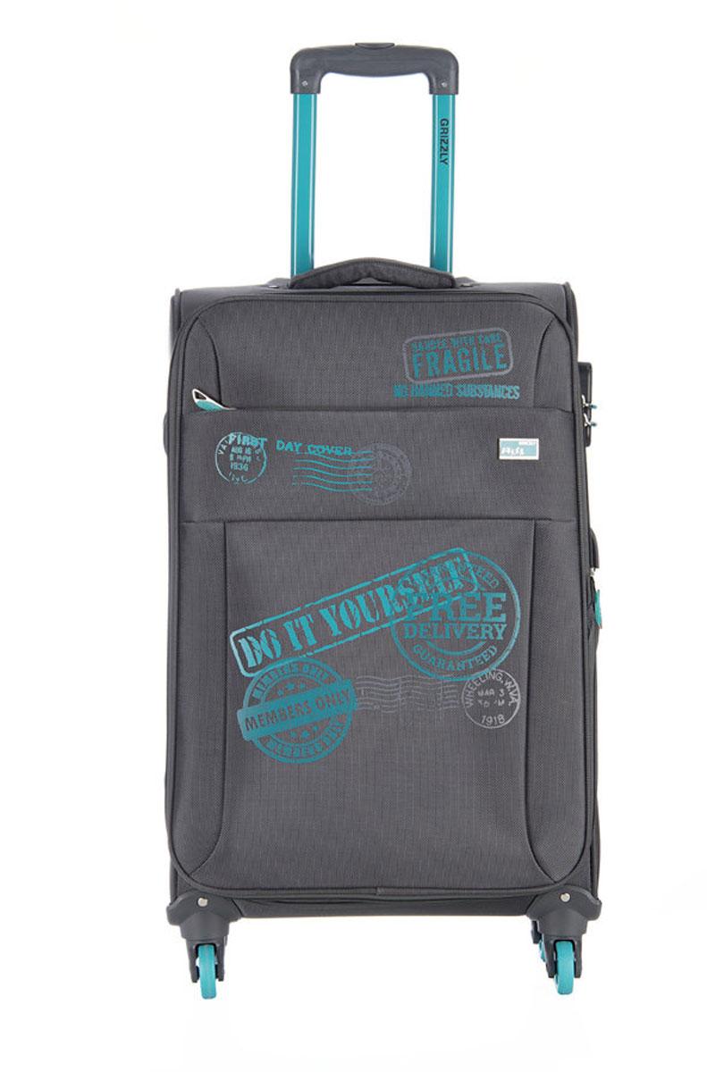 Чемодан Grizzly, цвет: серый, 40 л. LT-593-20/2LT-593-20/2Супер-легкий чемодан. Чемодан на четырех колесах, с телескопической ручкой, встроенным кодовым замком, с трансформирующимся основным отделением, объемными карманами в крышке, с внутренним карманом на молнии, регулируемыми фиксирующими стропами на фастексах. В комплект входит водонепроницаемый несессер.