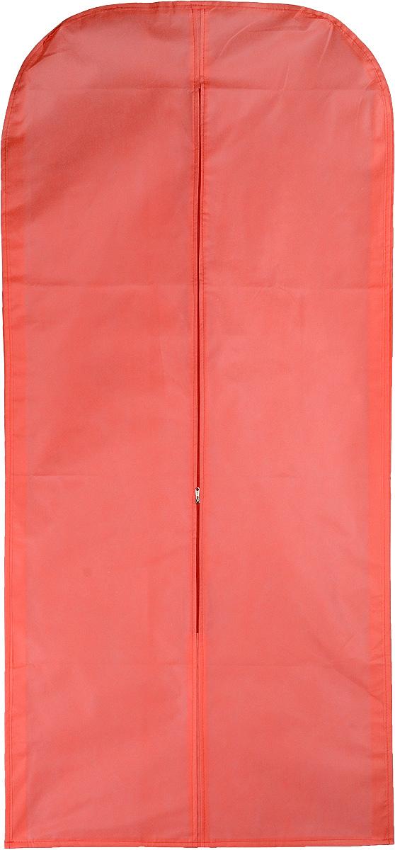 Чехол для одежды Eva, объемный, цвет: коралловый, 140 х 65 х 10 смЕ26_коралловыйОбъемный чехол для одежды Eva изготовлен из высококачественного нетканого материала. Особое строение полотна создает естественную вентиляцию: материал пропускает воздух, что позволяет изделиям дышать. Чехол очень удобен в использовании. Благодаря наличию боковой вставки, увеличивается в объеме, что позволяет хранить крупные объемные вещи. Это особенно необходимо для меховой, кожаной и шерстяной одежды. Чехол легко открывается и закрывается застежкой-молнией. Чехол для одежды Eva создаст уютную атмосферу в женском гардеробе. Лаконичный дизайн придется по вкусу ценительницам эстетичного хранения.