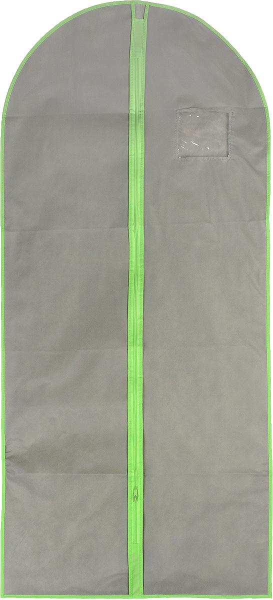 Чехол для одежды Хозяюшка Мила, тканевый, цвет: серый, салатовый, 60 х 137 см47011_салатовыйЧехол для одежды Хозяюшка Мила изготовлен из вискозы и оснащен застежкой-молнией. Особое строение полотна создает естественную вентиляцию: материал дышит и позволяет воздуху свободно проникать внутрь чехла, не пропуская пыль. Прозрачное окошко позволяет увидеть, какие вещи находятся внутри. Чехол для одежды будет очень полезен при транспортировке вещей на близкие и дальние расстояния, при длительном хранении сезонной одежды, а также при ежедневном хранении вещей из деликатных тканей. Чехол для одежды Хозяюшка Мила защитит ваши вещи от повреждений, пыли, моли, влаги и загрязнений.