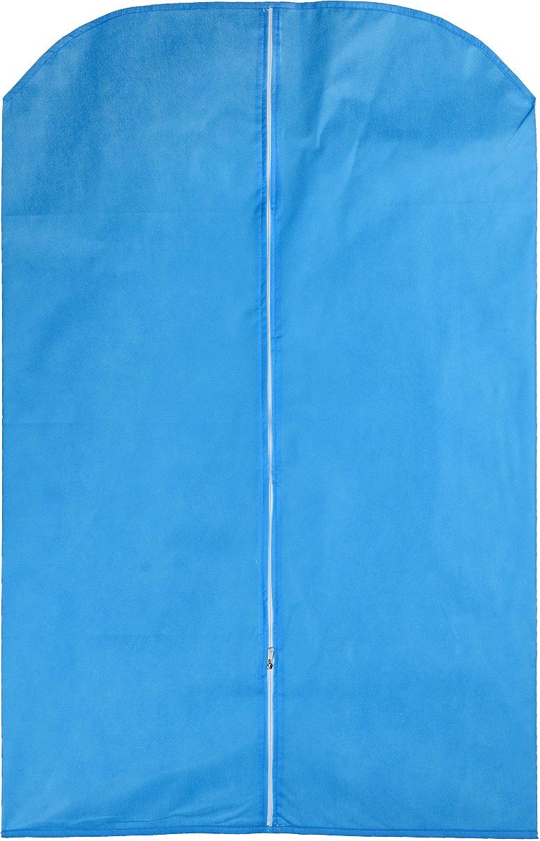 Чехол для одежды Eva, цвет: голубой, 65 х 100 смЕ16_голубойЧехол для одежды Eva изготовлен из высококачественного нетканого материала. Особое строение полотна создает естественную вентиляцию: материал дышит и позволяет воздуху свободно проникать внутрь чехла, не пропуская пыль. Это особенно необходимо для меховой, кожаной и шерстяной одежды. Благодаря форме чехла, одежда не мнется даже при длительном хранении. Чехол застегивается на молнию. Чехол для одежды будет очень полезен при транспортировке вещей на близкие и дальние расстояния, при длительном хранении сезонной одежды, а также при ежедневном хранении вещей из деликатных тканей. Чехол для одежды не только защитит ваши вещи от пыли и влаги, но и поможет доставить одежду на любое мероприятие в идеальном состоянии.