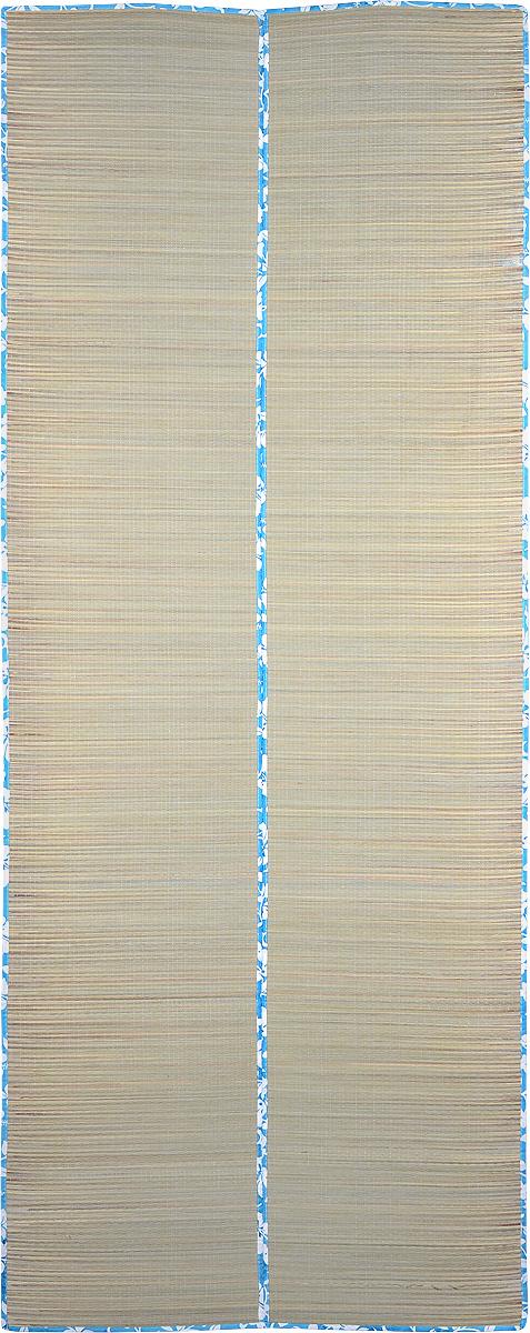 Мат пляжный Village People Цветочная поляна, цвет: голубой, белый, 70 х 180 см57226_голубой, белыйПляжный мат Village People Цветочная поляна станет незаменимым аксессуаром на вашем отдыхе. Изделие выполнено из полиэстера и соломы. Мат имеет яркий цветочный дизайн. В сложенном виде он займет мало места, а ручки облегчат переноску.