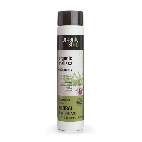 Organic Shop Пена для ванн Прованские травы, упругость кожи, 500 мл0861-10808Organic Shop Пена для ванн Прованские травы Упругость кожи, 500мл. Подарите себе гармонию и великолепный уход вместе с густой мягкой пеной для ванн «Прованские травы». Органическое масло мелиссы питает, увлажняет и восстанавливает кожу, делая её более гладкой, нежной и упругой. Органический экстракт розмарина способствует расслаблению и комфорту. Не содержит силиконов, SLS , парабенов. Без синтетических отдушек и красителей, без синтетических консервантов.