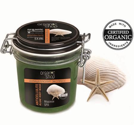Organic Shop Гель для тела Антицеллюлитное морское спа, 350 мл0861-12390Organic Shop Гель для душа антицеллюлитный морское спа 350мл. Легкий гель с приятной текстурой обладает интенсивным антицеллюлитным действием благодаря активным компонентам, входящим в его состав. Органический экстракт критмума оказывает мощный лимфодренажный эффект, предупреждает появление целлюлита. Минералы мертвого моря способствуют оттоку жидкости из тканей, улучшают структуру кожи, которая постепенно приобретает тонус, мягкость и гладкость. Термальный комплекс укрепляет структуру кожи, выравнивая ее.