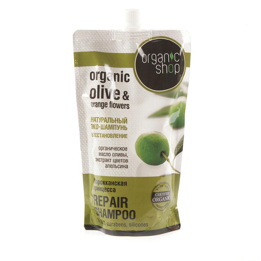 Organic Shop Шампунь для волос Марокканская принцесса, восстановление, 500 мл0861-14158Organic Shop Шампунь для волос восстановление Марокканская принцесса, Дой-пак 500мл.Органический экстракт оливы обеспечивает защиту и восстановление ваших волос, проникая в их структуру. Аргановое масло, содержащее комплекс натуральных кератинов, который помогает восстановить даже сильно повреждённые волосы. Уплотняют структуру волос, увлажняя их, входящие в состав масла витамины и минералы. Позволяет сохранять и удерживать все питательные вещества, входящее в состав шампуня, масло виноградной косточки, сглаживая их структуру и защищая от повреждений.