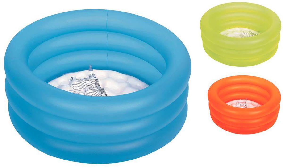 "Бассейн надувной Jilong ""Colorful 3-Ring Pool"", цвет: голубой, 64 х 22 см"