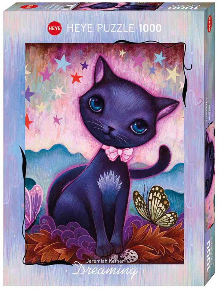 HEYE Пазл Черный котенок29687Пазл HEYE Черный котенок, без сомнения, придется вам по душе. Собрав этот пазл, включающий в себя 1000 элементов, вы получите великолепное творение Jeremiah Ketner. Американец Иеремия Кетнер - художник, дизайнер. Он начал рисовать в возрасте двенадцати лет, затем закончил Колумбийский колледж искусств и дизайна и Университет Южного Иллинойса. Его картины легко узнаваемы в движении сюрреализма. Соедините все детали вместе, и насладитесь чудесным картиной. Чтобы справиться с задачей вам будет необходимо приложить немалую долю внимания и терпения. Собирание пазла поможет развить память, моторику рук, логику и усидчивость. Играть в пазл можно всей семьей или с друзьями. Главное начать, и тогда вы не сможете остановиться!