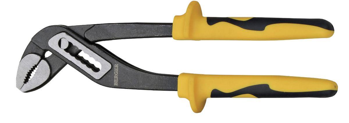 Клещи переставные Berger, 250 мм. BG-250WPPBG -250 WPPПереставные клещи Фосфатированная поверхность позволяет повысить антикоррозионные характеристики; Материал: Хромованадиевая сталь. Закаленные губки 47 НRC Надежный захват благодаря зубцам на губках. Эргономичные рукоятки имеют антискользящие вставки для более уверенного обхвата инструмента.