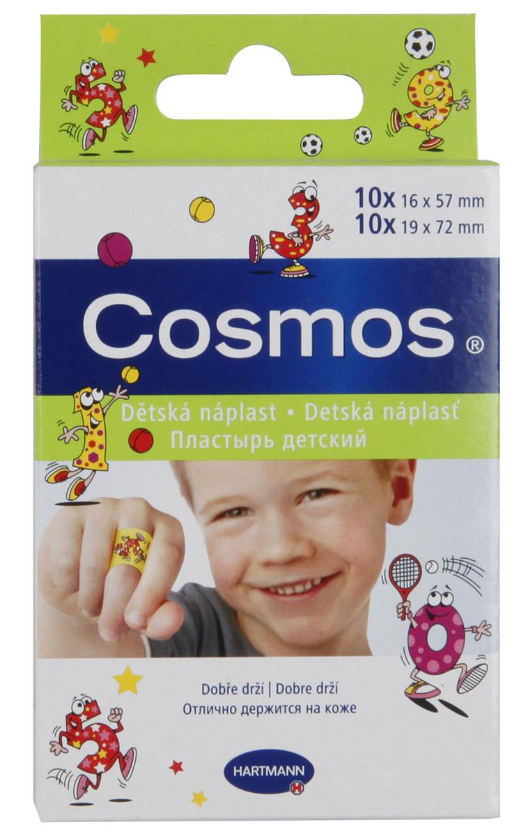 Hartmann Пластырь Cosmos Kids, с рисунком, 2 размера, 20 шт5356231Пластырь Hartmann Cosmos Kids с веселыми картинками разработан специально для детей. Пластырь изготовлен из эластичной пленки и оформлен изображениями веселых животных. Он развеселит малыша и надежно защитит ранку или ссадину от попадания грязи и бактерий. Пластырь устойчив к воде и обладает отличной воздухопроницаемостью. Внутренняя подушечка с высокими абсорбирующими свойствами надежно впитывает кровь. Жидкость поглощается и блокируется, поэтому рана остается сухой. Не приклеивается к ране, удаляется без боли и без остатков. Гипоаллергенный и безопасный пластырь Hartmann Cosmos Kids станет незаменимым помощником в маминой аптечке. В набор входят 20 пластинок пластыря двух размеров (по 10 штук каждого размера).