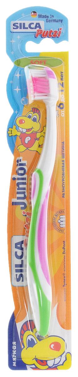 Silca Putzi Зубная щетка Junior от 6 до 12 лет цвет сиреневый зеленый