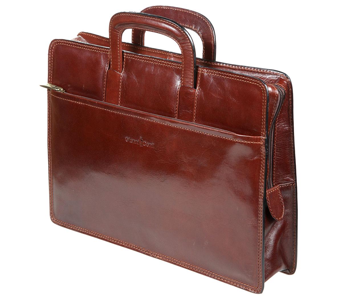 Портфель-папка мужской Gianni Conti, цвет: темно-коричневый. 901034 901034 brown