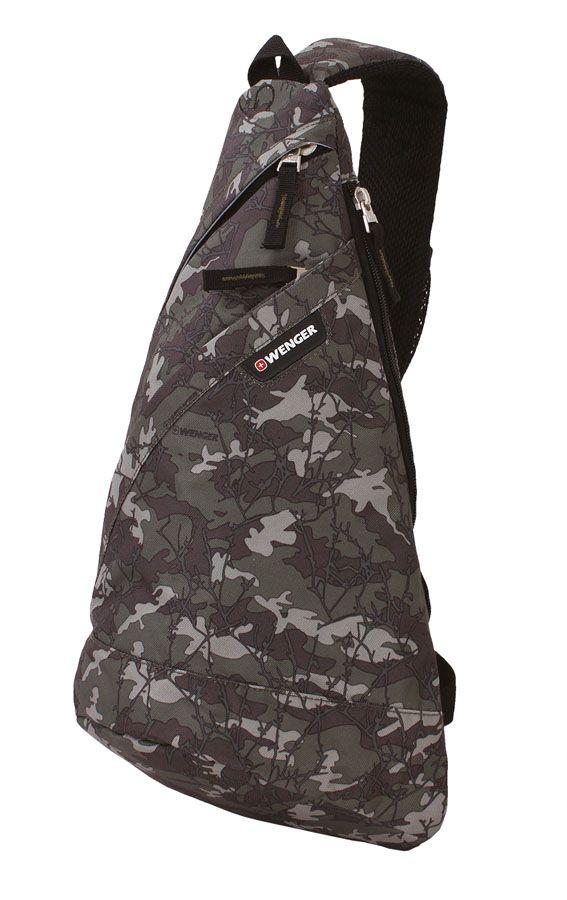 Рюкзак Wenger с одним плечевым ремнем, цвет: серый камуфляж, 45х25х15 см, 17 л2310600550Свойства и характеристики: - прочный плечевой ремень; - отделение с отверстием для наушников; - карман органайзер; - полиэстер. Материал внешний: 900D Dobby полиэстер. Материал внутренний: 210D нейлон.
