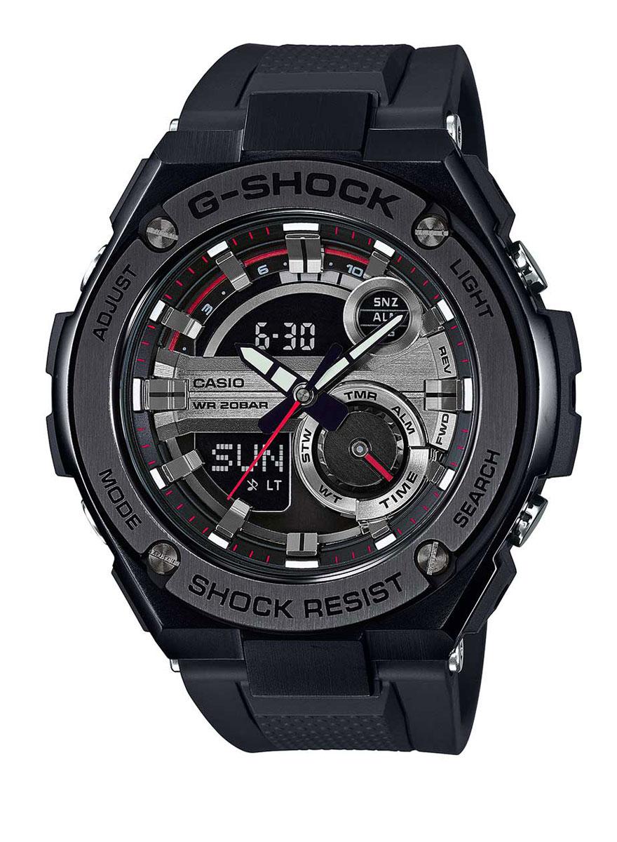 Наручные часы мужские Casio, цвет: черный, серый. GST-210B-1AGST-210B-1A