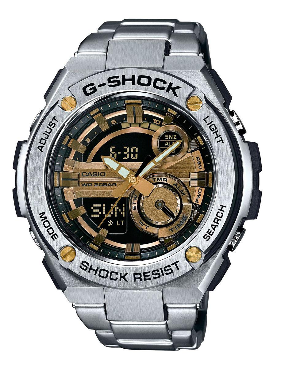 Наручные часы мужские Casio, цвет: стальной, золотой. GST-210D-9AGST-210D-9A