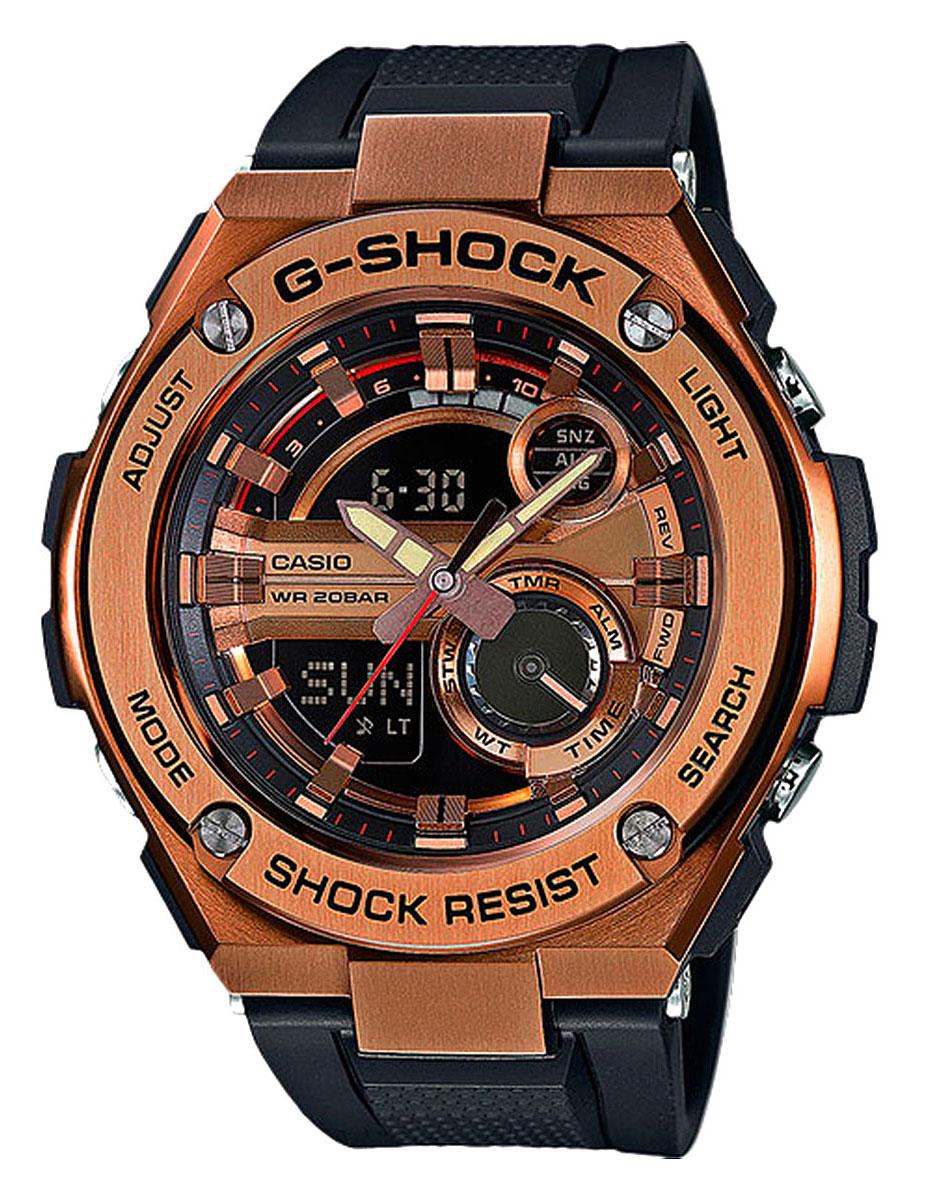 Наручные часы мужские Casio, цвет: золотой, черный. GST-210B-4AGST-210B-4A