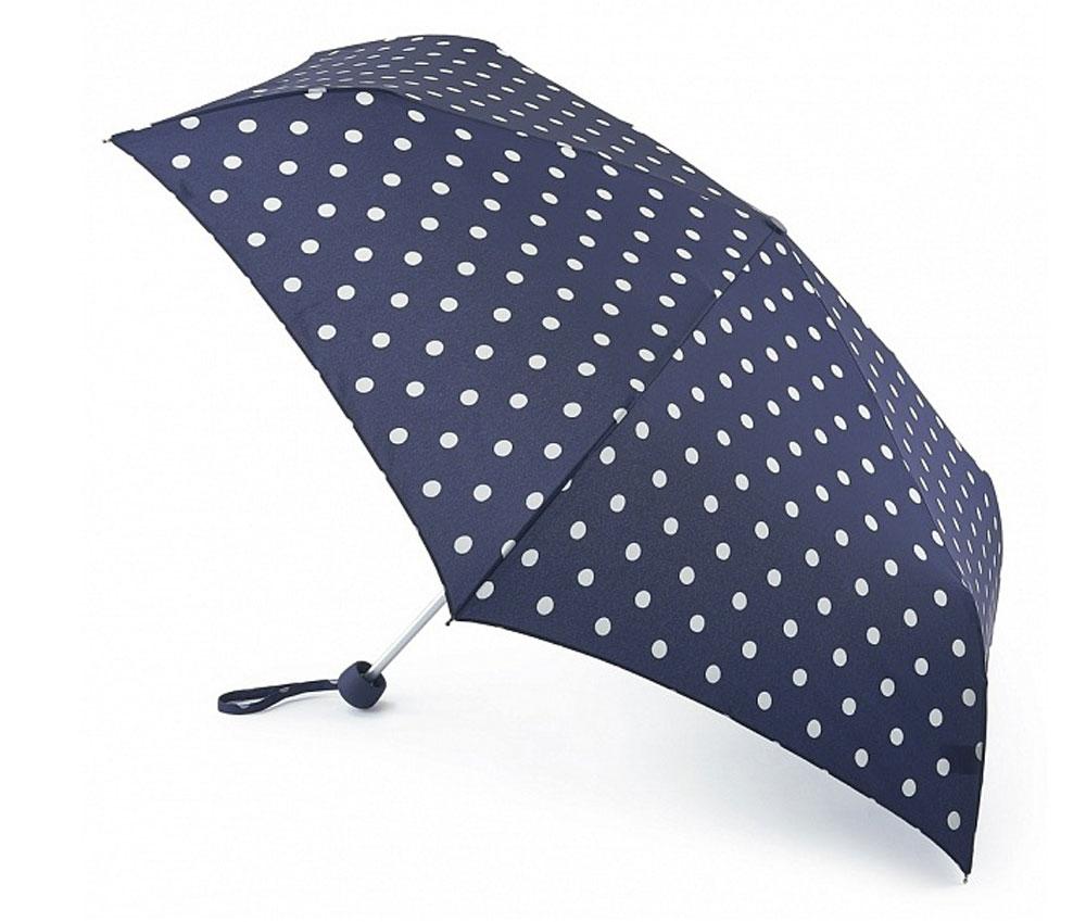 "Зонт женский Cath Kidston ""Minilite"", механический, 3 сложения, цвет: темно-синий, бежевый. L768-2654"