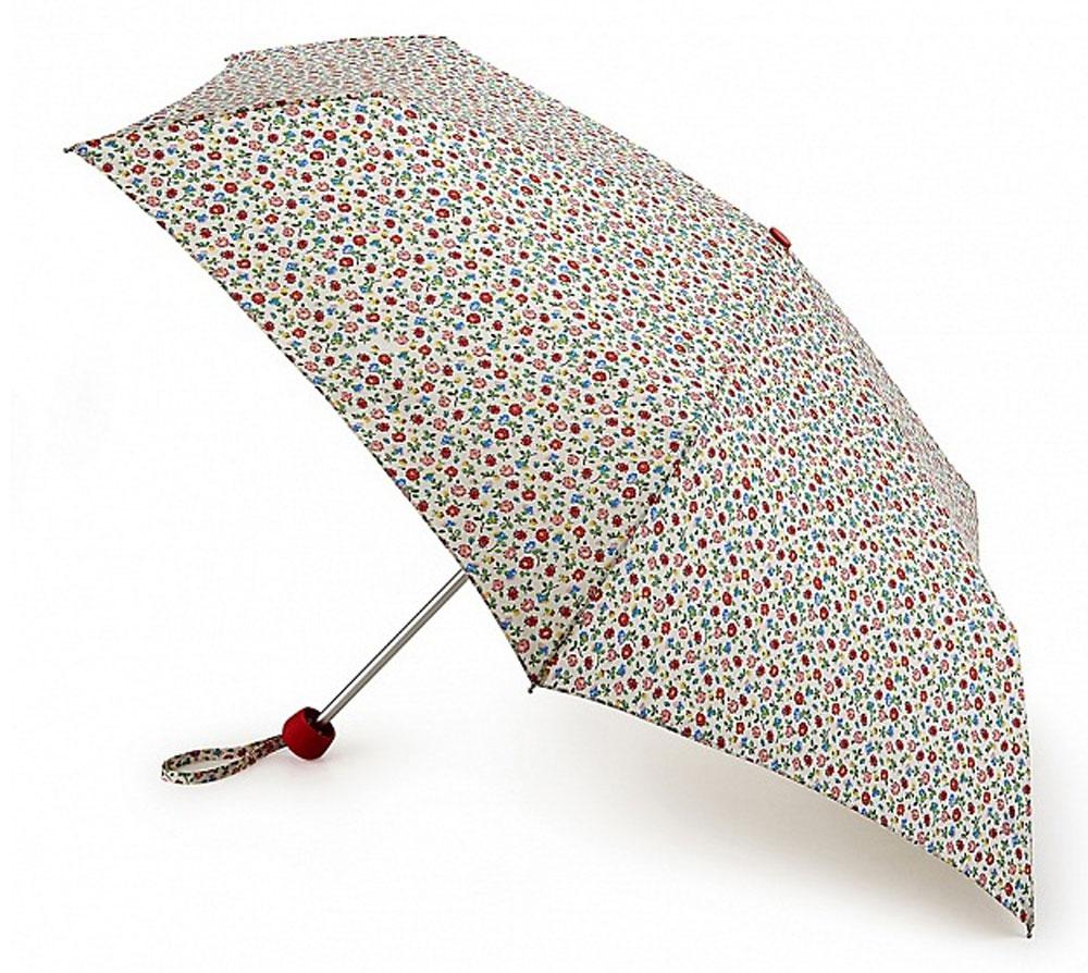 """Зонт женский Cath Kidston """"Minilite"""", механический, 3 сложения, цвет: белый, мультиколор. L768-3136"""