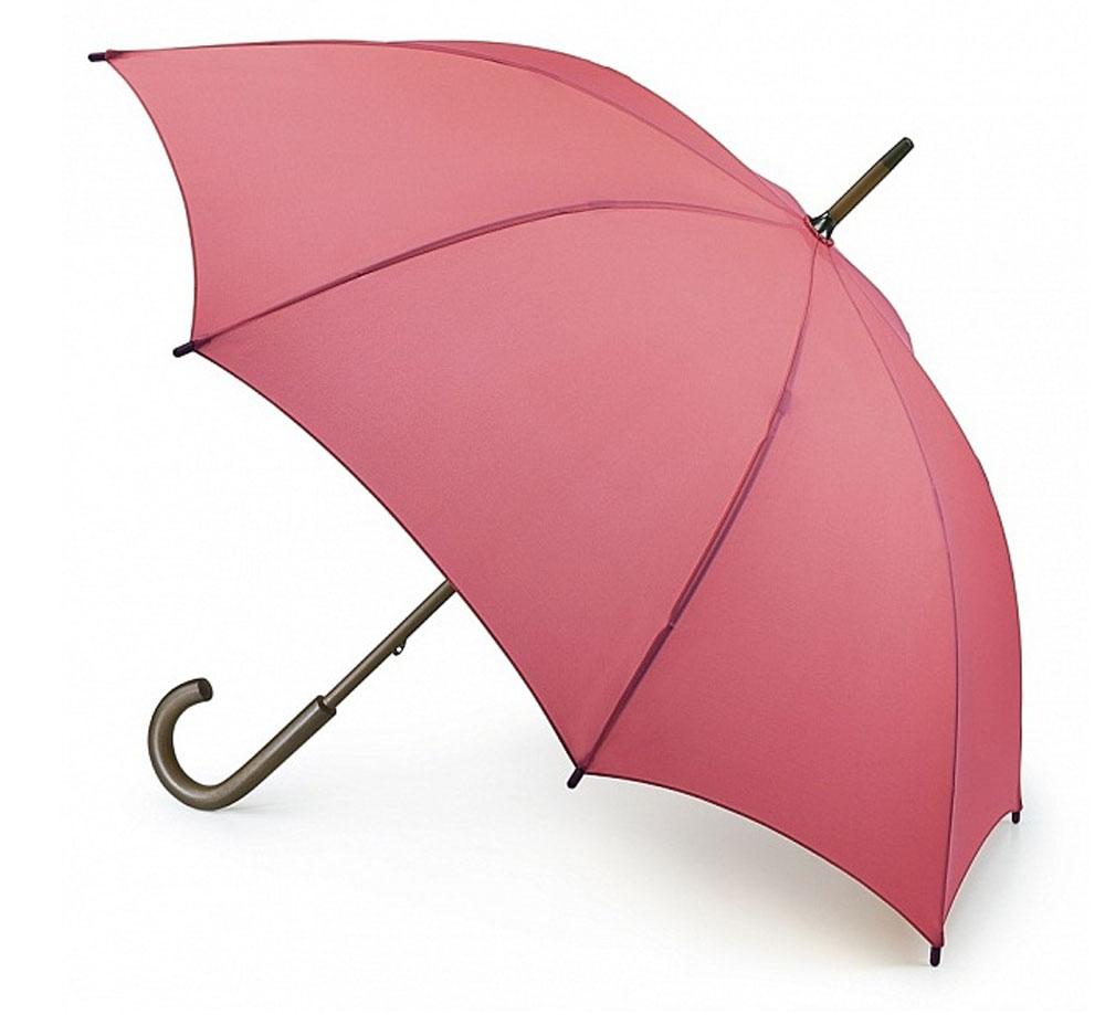 Зонт-трость женский Fulton Kensington, механический, цвет: коралловый. L776-041L776-041 CoralМодный механический зонт-трость Fulton Kensington даже в ненастную погоду позволит вам оставаться стильной и элегантной. Каркас зонта состоит из 8 спиц и стержня из фибергласса. Купол зонта выполнен из прочного полиэстера. Изделие оснащено удобной рукояткой из дерева. Зонт механического сложения: купол открывается и закрывается вручную до характерного щелчка. Модель закрывается при помощи хлястика на кнопку. Такой зонт не только надежно защитит вас от дождя, но и станет стильным аксессуаром, который идеально подчеркнет ваш неповторимый образ.