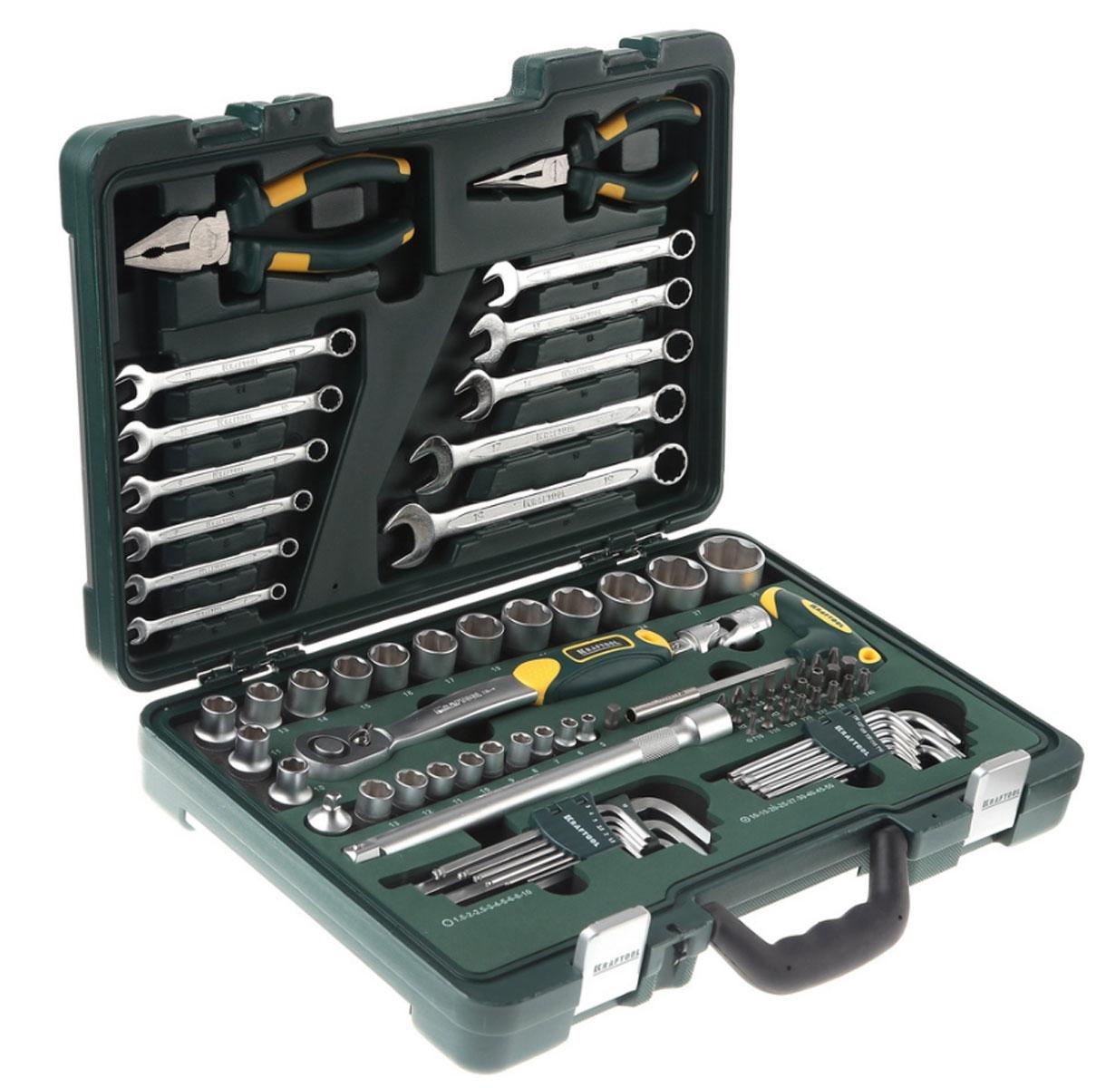 Набор Kraftool Industry Слесарно-монтажный инструмент, 84 предмета27977-H84
