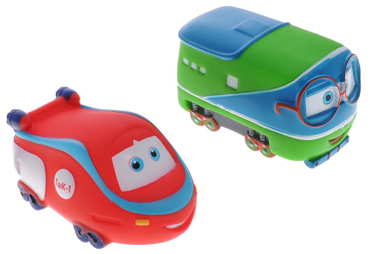 Играем вместе Набор игрушек для ванной Паровозик Тишка 2 шт175R-PVCС набором игрушек для ванной Играем вместе Паровозик Тишка принимать водные процедуры станет еще веселее и приятнее. В набор входят 2 игрушки в виде любимых героев одноименного мультфильма. Игрушки могут брызгать водой и пищать. Набор доставит ребенку большое удовольствие и поможет преодолеть страх перед купанием. Игрушки для ванной способствуют развитию воображения, цветового восприятия, тактильных ощущений и мелкой моторики рук.