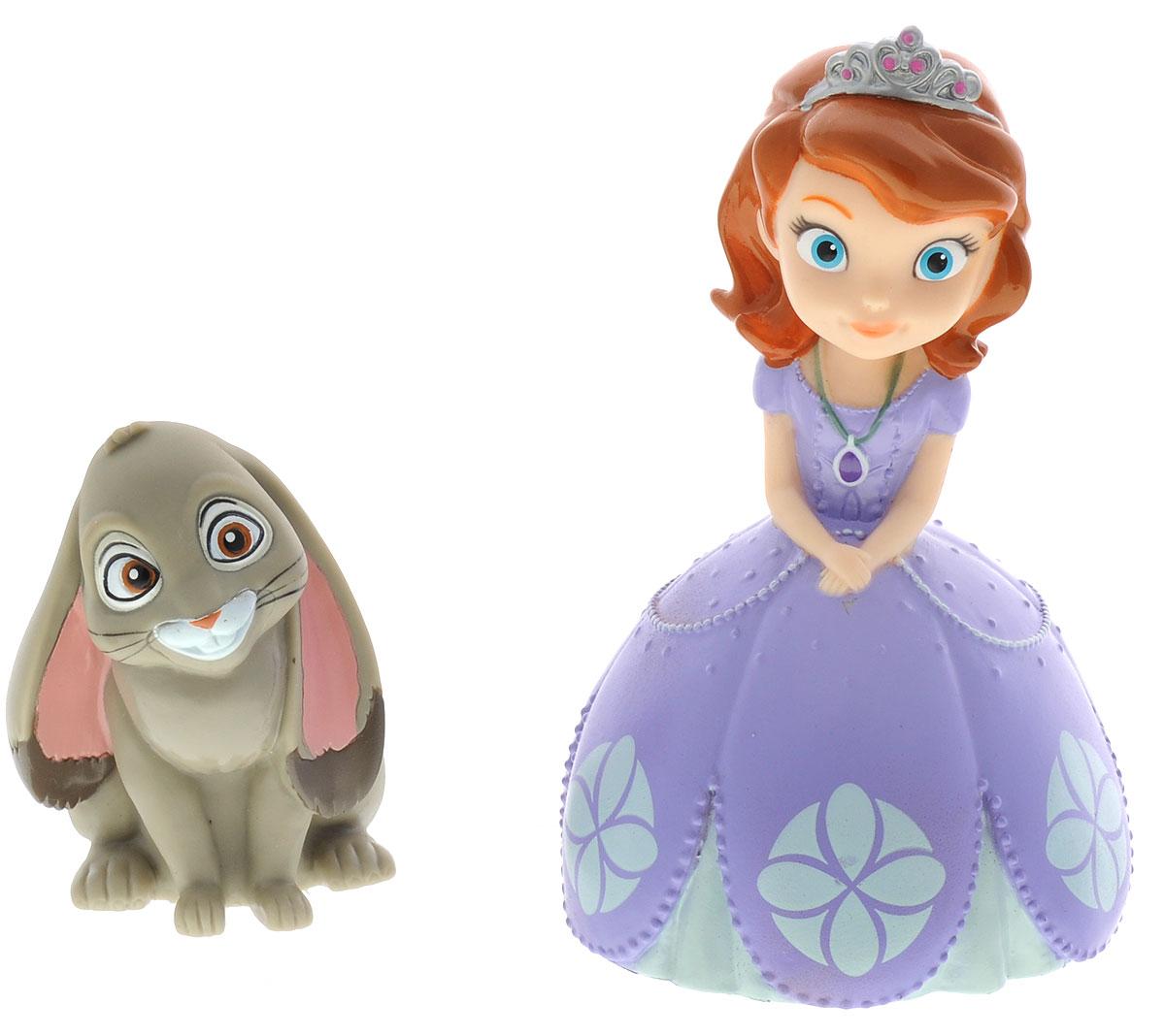 Играем вместе Набор игрушек для ванной София Прекрасная и кролик182R-PVC_кроликС набором игрушек для ванной Играем вместе София Прекрасная принимать водные процедуры станет еще веселее и приятнее. В набор входят 2 игрушки в виде принцессы Софии и ее питомца кролика. Игрушки могут брызгать водой и пищать. Набор доставит ребенку большое удовольствие и поможет преодолеть страх перед купанием. Игрушки для ванной способствуют развитию воображения, цветового восприятия, тактильных ощущений и мелкой моторики рук.