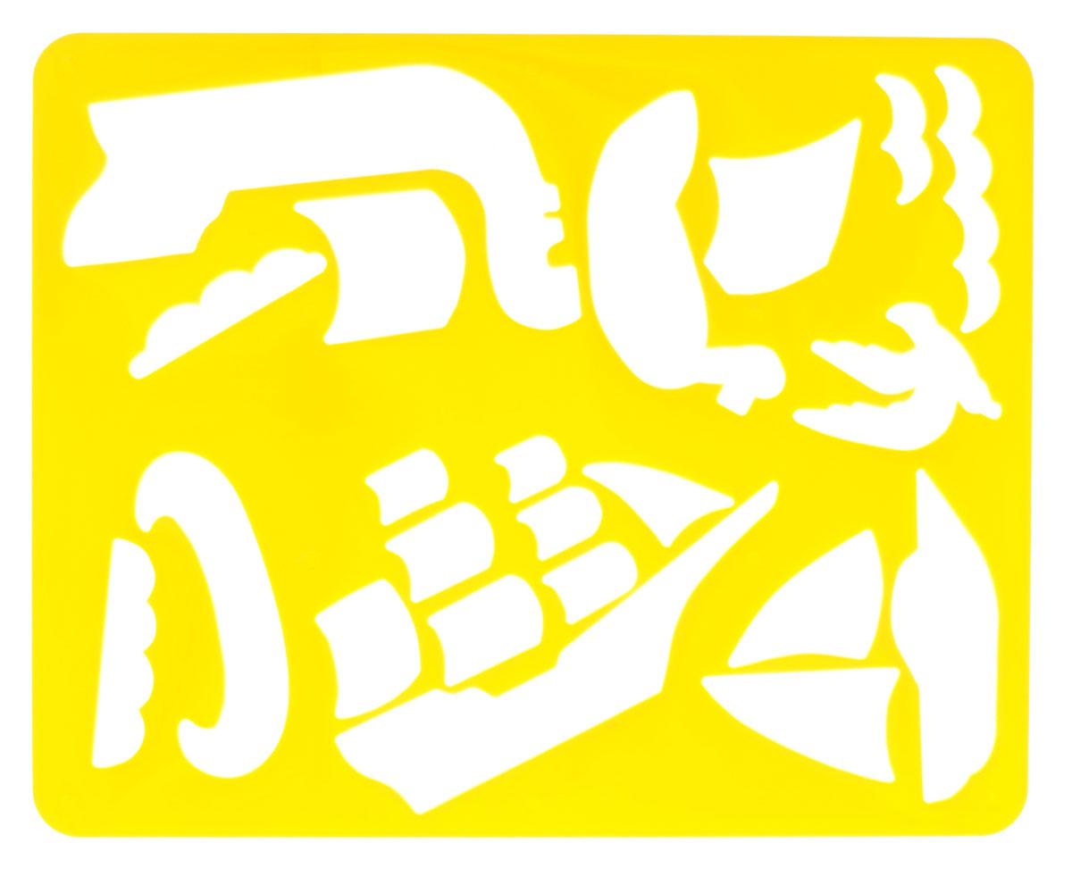 Луч Трафарет прорезной Корабли ушедших времен цвет желтый