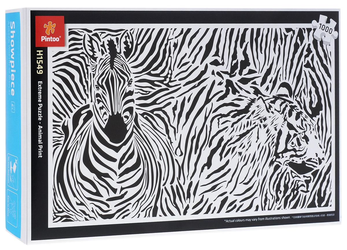 Pintoo Пазл Зебра и тигрН1549Пазл Pintoo Зебра и тигр, без сомнения, придется вам по душе. Собрав пазл из 1000 элементов, вы получите картину с изображением зебры и тигра, выполненного с помощью узора из черных и белых полос. Элементы выполнены из пластика и соединяются между собой методом замка (как ламинат), поэтому собранная картина очень крепко держится, при этом ее всегда можно разобрать и собрать снова. Пазлы - прекрасное антистрессовое средство для взрослых и замечательная развивающая игра для детей. Собирание пазла развивает у ребенка мелкую моторику рук, тренирует наблюдательность, логическое мышление, знакомит с окружающим миром, с цветом и разнообразными формами, учит усидчивости и терпению, аккуратности и вниманию. Собирание пазла - прекрасное времяпрепровождение для всей семьи.