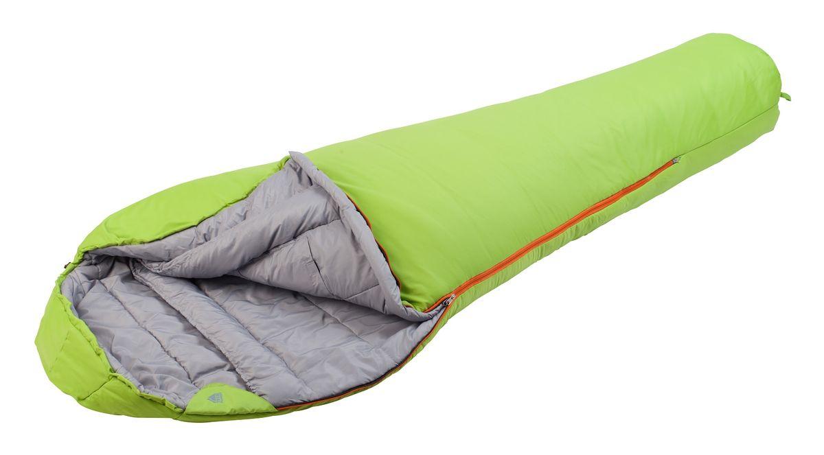 Спальный мешок Trek Planet Yukon, цвет: салатовый, левосторонняя молния70337-LТеплый, комфортный 3-х сезонный спальник-кокон TREK PLANET Yukon предназначен как для весенне-осенних длительных походов и активного отдыха, так и для использования при низких зимних температурах. Утеплен двумя слоями техничного 4-канального волокна Hollow Fiber. Внешний материал: усиленный полиэстер Ripstop, внутренняя ткань: мягкий полиэстер (Pongee). ОСОБЕННОСТИ СПАЛЬНИКА: - Конструкция капюшона и спальника анатомической формы, - Удобный глубокий капюшон, - 4-канальный наполнитель Hollow Fiber, - Внешний материал: усиленный полиэстер RipStop, - Внутренняя ткань: мягкий полиэстер (Pongee), - Молния имеет два замка с обеих сторон, - Тепловой ворот, - Термоклапан вдоль молнии, - Внутренний карман, - Возможно состегивание спальников между собой (правая молния: артикул 70337-R), - К спальнику прилагается компрессионный чехол из прочного полиэстера для удобного хранения и переноски. Характеристики: Цвет: салатовый t°...