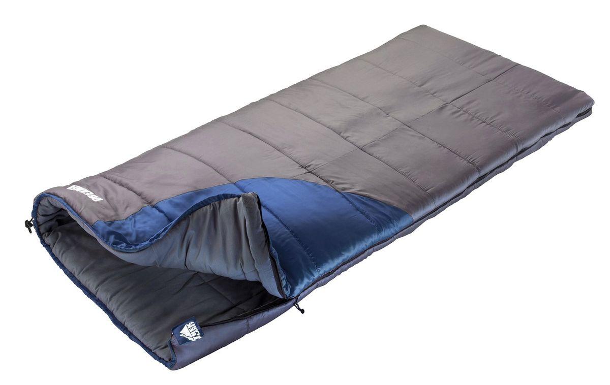 """Спальный мешок Trek Planet """"Warmer"""",цвет: темно-серый, синий, левосторонняя молния"""