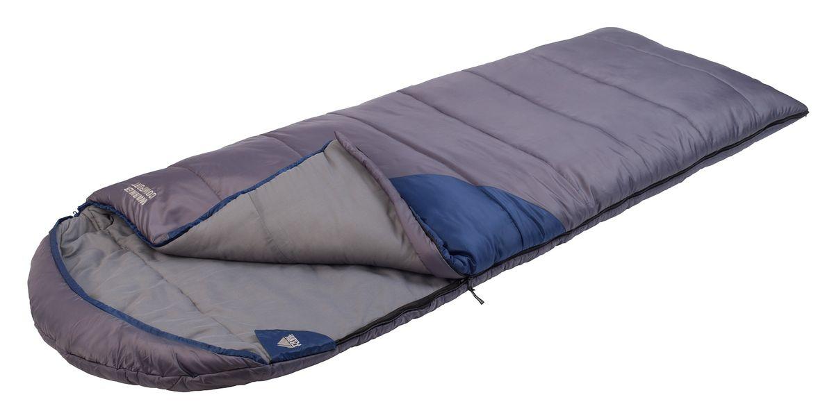 Спальный мешок Trek Planet Warmer Comfort,цвет: темно-серый, синий, правосторонняя молния70374-RСамый теплый, просторный и очень комфортный 4-х сезонный спальник-одеяло с капюшоном Trek Planet Warmer Comfort. Его отличительная особенность - натуральная внутренняя ткань поликоттон: прекрасно дышит и дает приятные ощущения во время сна. Спальник прекрасно подойдет для походов и отдыха на природе в холодные при низких зимних температурах. Большой и уютный капюшон обеспечивает повышеный комфорт и тепло в холодную погоду. К несомненным достоинствам спальника можно отнести размер: спальник подходит даже для очень крупных туристов. Утеплен двумя слоями супер техничного 7-канального волокна Hollow Fiber. Самый удобный, комфортный и теплый спальник-одеяло для кемпинга! ОСОБЕННОСТИ СПАЛЬНИКА: - Теплый капюшон с затягивающейся шнуровкой по периметру, - Увеличенная ширина спальника, - 7-канальный наполнитель Hollow Fiber, - Внешний материал: 190T полиэстер/полиэстер RipStop, - Внутренний материал - мягкий поликоттон, - Дополнительная плечевая затягивающаяся...