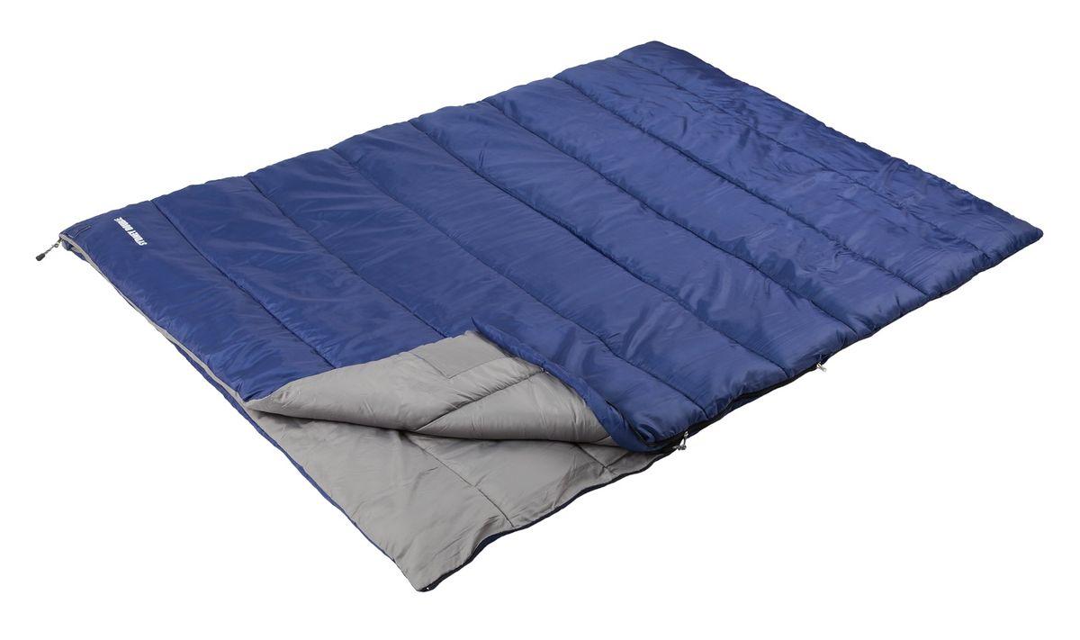 Спальный мешок Trek Planet Sydney Double, цвет: синий70385Просторный и теплый спальник-одеяло двойного размера TREK PLANET Sydney Double предназначен для походов преимущественно в летний период. Идеально подойдет для тех, кто путешествует парой! Этот спальник пригодится вам во время поездки на пикник, на дачу, во время туристического похода. К его несомненным достоинствам можно отнести то, что в остальное время его можно использовать как одеяло для гостей. ОСОБЕННОСТИ СПАЛЬНИКА: - Две молнии расположена по обеим сторонам спальника, - Молния имеет два замка с обеих сторон, - Термоклапан вдоль молнии, - Внутренний карман, - Небольшой вес, - К спальнику прилагается чехол для удобного хранения и переноски. ХАРАКТЕРИСТИКИ: Цвет: синий t° комфорт: 10°C t° лимит комфорт: 6°C t° экстрим: -5°C. Внешний материал: 100% полиэстер Внутренний материал: 100% полиэстер Утеплитель: Hollow Fiber 1x300 г/м2. Размер: 200 см х 150 см. Размер в чехле: 35 см х 35 см х 51 см. Вес: 2,25...