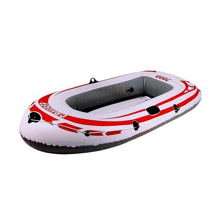 Лодка надувная Jilong Cruiser Boat CB2000, 218 х 110 х 36 см, цвет: серыйJL007008-3NЛодка надувная JILONG JL007008-3N CRUISER BOAT CB2000 1 взрослых+ребенок Размер - 218х110х36 см Максимальная нагрузка - 190 кг. Тип:гребная - Кол-во мест 1+1 - Длина лодки - 218см - Вес лодки - 3,4 кг - Материал - армированный ПВХ - 2-камерная конструкция лодки для большей безопасности - Держатель для весел - Крепление для весел - Надувной пол - Стропа по периметру лодки - Самоклеящаяся заплатка Характеристики: Страна: Китай Грузоподъемность:190кг Движитель: весла Уключины: Да Материал:армированный ПВХ Максимальная нагрузка - 190 кг.