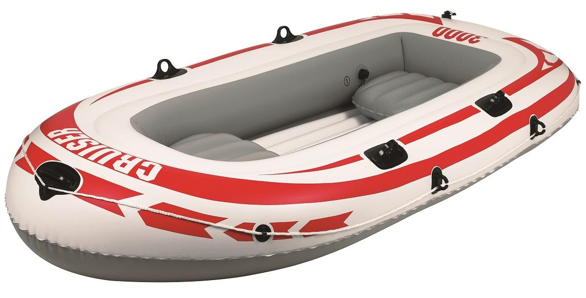 """Лодка надувная Jilong """"Cruiser Boat CB3000SET"""", с веслами и насосом, 252 х 125 х 40 см, цвет: серый JL007008-4N"""
