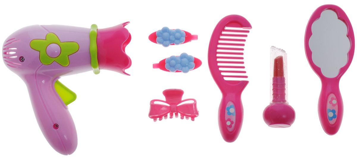 Играем вместе Набор аксессуаров для девочекBE013-R1Набор аксессуаров для девочек Играем вместе позволит ребенку вдоволь насладиться созданием собственного образа. В комплект входят 7 предметов, включая расческу, зеркальце, фен и другие аксессуары. Маленькие любительницы стиля смогут претворить в жизнь все свои творческие задумки, связанные с прической. Моделью для создания композиций могут стать как подружки, так и родители. Порадуйте свою принцессу таким великолепным подарком!