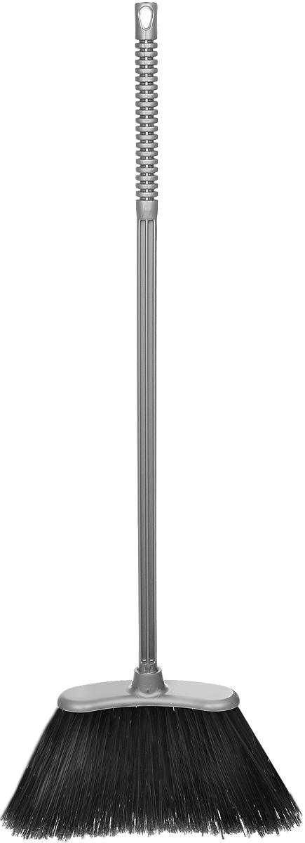 Веник Альтернатива Комфорт-люкс, жесткий, цвет: серый, черный, длина 85 смМ1267_серыйВеник Альтернатива Комфорт-люкс предназначен для подметания пола. Оснащен откручивающимся черенком, выполненным из пластика. Веник имеет жесткий длинный ворс, на конце распушенный для максимальной эффективности. Специальная закругленная форма изделия позволяет выметать мусор даже из труднодоступных мест. Черенок оснащен отверстием для подвешивания. Оригинальный, современный, удобный веник сделает уборку эффективнее и приятнее. Длина веника: 85 см. Длина ворса: 14 см. Размер рабочей поверхности: 31 х 8 см.