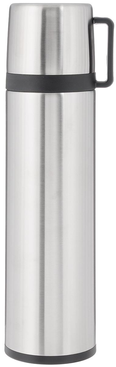 Термос Tescoma Constant, с крышкой-кружкой, 1 л318526Термос Tescoma Constant предназначен для хранения теплых и холодных напитков на длительное время. Изделие изготовлено из пластика и высококачественной нержавеющей стали с двойной колбой. Пробка плотно закручивается, а благодаря вакуумной кнопке внутри создается абсолютная герметичность, что предотвращает проливание напитков. Термос оснащен завинчивающейся крышкой, которая может выполнять функцию кружки с ручкой. Нельзя мыть в посудомоечной машине. Диаметр горлышка по верхнему краю: 5 см. Диаметр основания: 8,5 см. Высота термоса: 31,5 см. Диаметр крышки-кружки по верхнему краю: 8 см. Высота стенки крышки-кружки: 7,5 см.