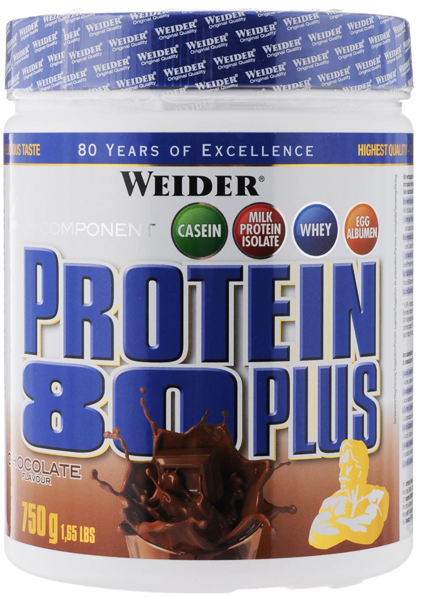 Протеин Weider Protein 80+, шоколад, 750 г30111Протеин Weider Protein 80+ - четырехкомпонентная белковая смесь. У каждого из этих белков своя скорость усвоения, что способствует постоянному и равномерному поступлению аминокислот в кровь на протяжение более чем пяти часов! Этот протеиновый коктейль создан, как дополнение к питанию, с целью увеличения количества белка в дневном рационе. Для нормальной работы всех систем организма человеку требуется 2-4 г белка на килограмм веса в сутки! Молочный белок (казеин): обеспечивает мускулатуру протеином в течение семи часов, содержит большое количество ВСАА. Изолят молочного белка: в сухом веществе содержится более 90% протеина. Это означает очень низкое содержание жиров и углеводов! Белок молочной сыворотки (Whey): быстро усваиваемый протеин. Снабжает мускулатуру в том числе и L-глютамином. Яичный белок (альбумин): содержит так называемые сернистые аминокислоты. Это повышает биологическую ценность продукта. Рекомендации по...