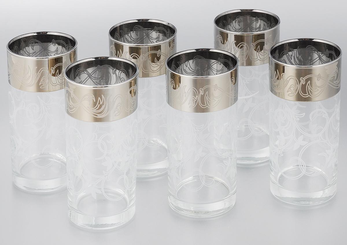 Набор стаканов для сока Мусатов Шарм, 290 мл, 6 шт402/04Набор Мусатов Шарм состоит из 6 стаканов, изготовленных из высококачественного натрий-кальций-силикатного стекла. Изделия оформлены красивой широкой окантовкой с оригинальным орнаментом. Стаканы предназначены для подачи сока, а также воды и коктейлей. Такой набор прекрасно дополнит праздничный стол и станет желанным подарком в любом доме. Разрешается мыть в посудомоечной машине. Диаметр стакана (по верхнему краю): 6 см. Высота стакана: 13,5 см.