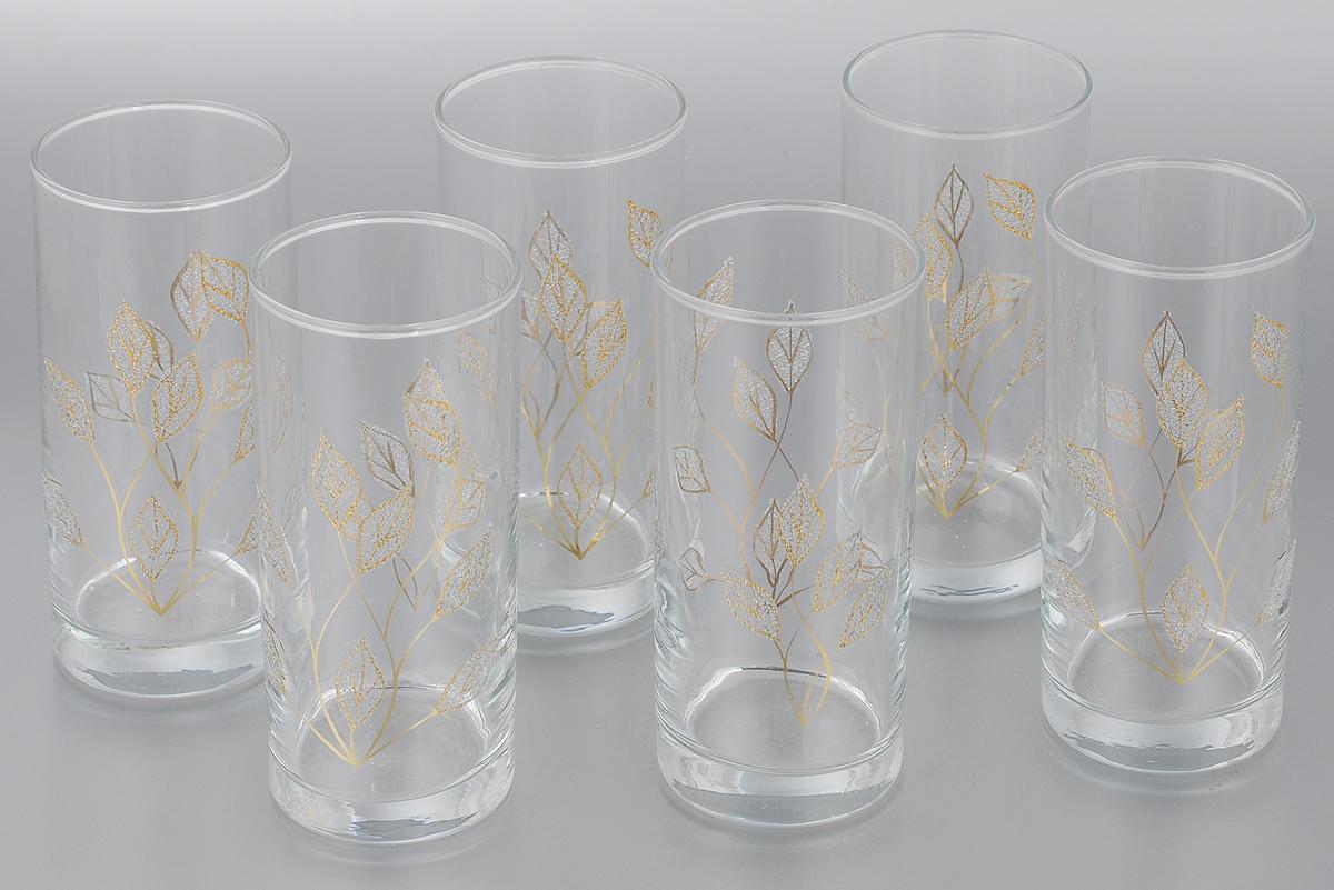 Набор стаканов для сока Мусатов Осень, 290 мл, 6 шт402/08Набор Мусатов Осень состоит из 6 стаканов, изготовленных из высококачественного натрий-кальций-силикатного стекла. Изделия оформлены оригинальным орнаментом. Стаканы предназначены для подачи сока, а также воды и коктейлей. Такой набор прекрасно дополнит праздничный стол и станет желанным подарком в любом доме. Разрешается мыть в посудомоечной машине. Диаметр стакана (по верхнему краю): 6 см. Высота стакана: 13,5 см.