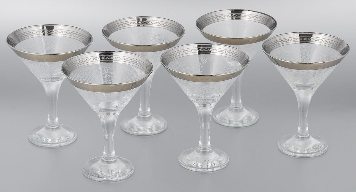 Набор бокалов для мартини Мусатов Люция, 170 мл, 6 шт410/03Набор Мусатов Люция состоит из 6 бокалов, изготовленных из высококачественного стекла. Изделия оформлены оригинальной окантовкой и предназначены для подачи мартини. Такой набор прекрасно дополнит праздничный стол и станет желанным подарком в любом доме. Разрешается мыть в посудомоечной машине. Диаметр бокала (по верхнему краю): 10,7 см. Высота бокала: 13,7 см. Диаметр основания бокала: 6,5 см.