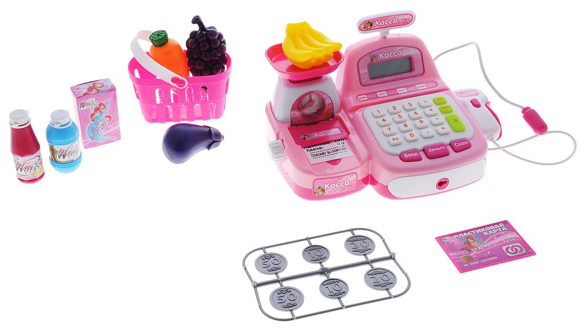 Играем вместе Игровой набор Касса Winx16656B-RИгровой набор Играем вместе Касса Winx - прекрасный комплект, с которым игра в магазин станет веселее, интереснее и реалистичнее. Малышка сможет играть в одиночку или же пригласить своих подружек и придумать вместе множество интересных игр. В комплекте имеется все для увлекательной игры: сканер, корзинка для продуктов, кассовый аппарат, ключи от кассы, встроенные весы, игрушечные продукты и другие аксессуары. Играя с комплектом, ребенок сможет развить внимательность, воображение и фантазию. Рекомендуется докупить 2 батарейки типа АА (товар комплектуется демонстрационными).