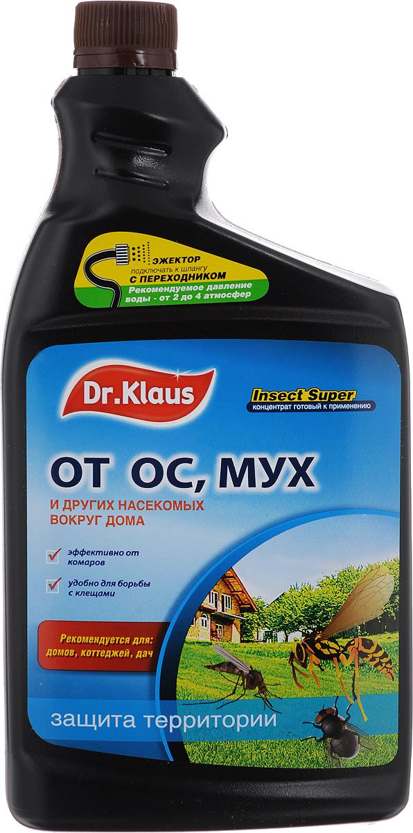 """Средство от мух, ос и других насекомых Dr.Klaus """"Insect Super"""", концентрат, сменный флакон, 1 л DK04240011"""