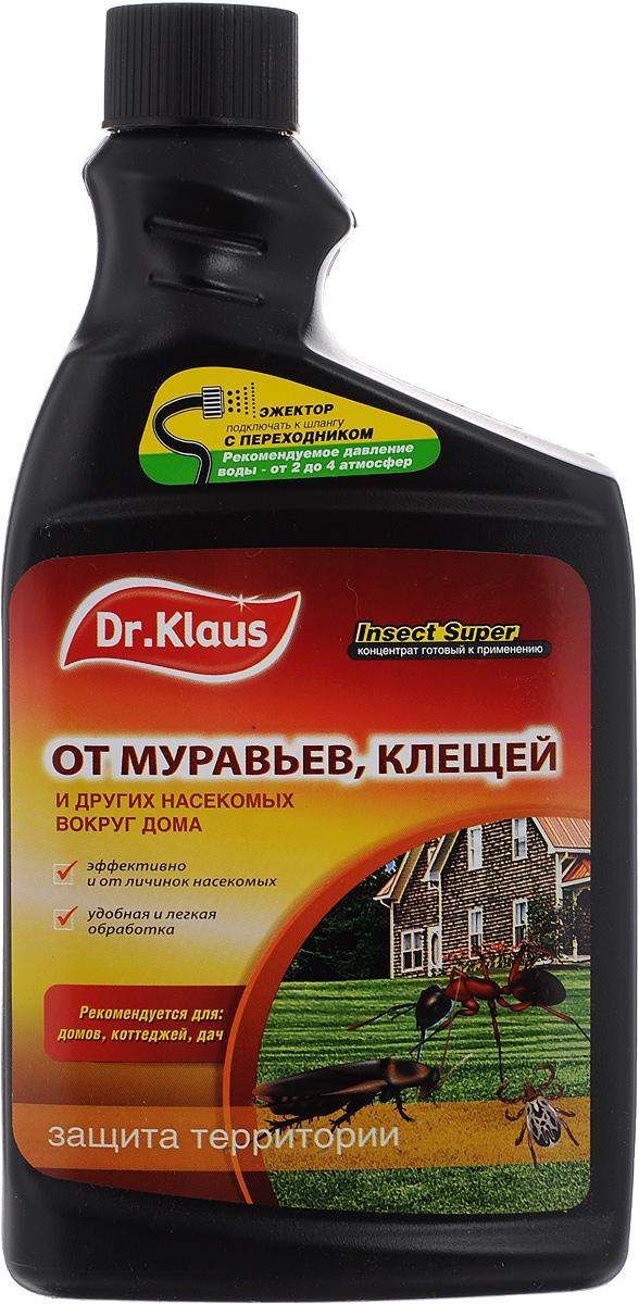 """Средство от муравьев, клещей и других насекомых Dr.Klaus """"Insect Super"""", концентрат, сменный флакон, 1 л DK06240011"""