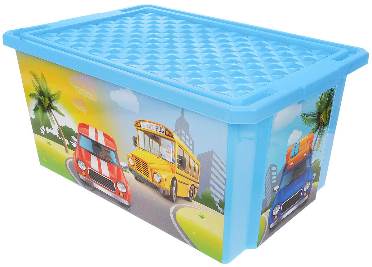 Little Angel Ящик для игрушек X-Box City Cars на колесах 61 х 40,5 х 33 смLA1025BSДетский ящик для игрушек Little Angel X-Box City Cars на колесах выполнен из прочного материала и украшен забавным изображением. В нем можно удобно и компактно хранить белье, одежду, обувь или игрушки. Ящик оснащен плотно закрывающейся крышкой, которая защищает вещи от пыли, грязи и влаги. Ящик оснащен четырьмя колесами. Такой ящик непременно привлечет внимание ребенка и станет незаменимым для хранения игрушек, книжек и других детских принадлежностей. Он отлично впишется в детскую комнату и поможет приучить ребенка к порядку.
