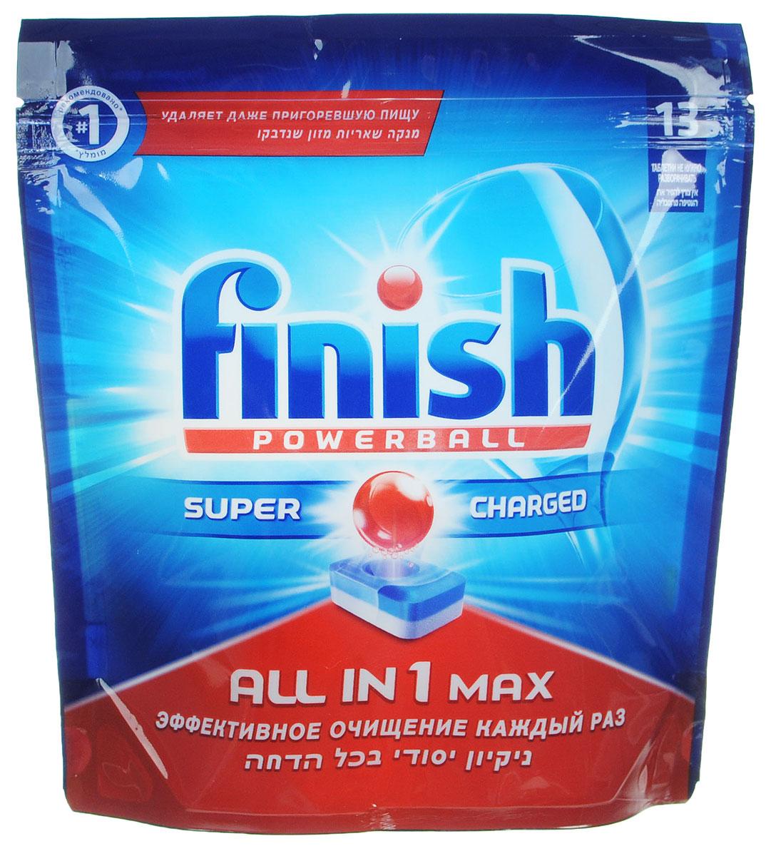 """Таблетки для посудомоечной машины Finish """"All in 1 Max"""", 13 шт ( 3009 )"""