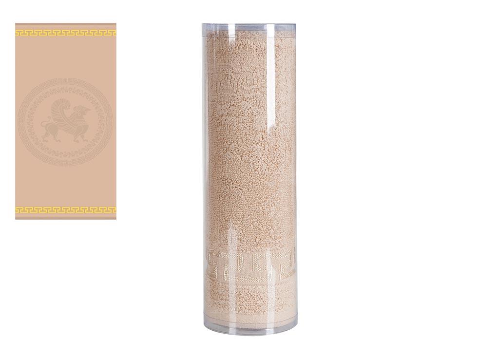 Полотенце махровое Soavita Меандр, цвет: бежевый, 45 х 80 см82754Махровое полотно создается из хлопковых нитей, которые, в свою очередь, прядутся из множества хлопковых волокон. Чем длиннее эти волокна, тем прочнее будет нить, и, соответственно, изделие. Длина составляющих хлопковую нить волокон влияет и на фактуру получаемой ткани: чем они длиннее, тем мягче и пушистее получится махровое изделие, тем лучше будет впитывать изделие воду. Хотя на впитывающие качество махры – ее гигроскопичность, не в последнюю очередь влияет состав волокна. Мягкая махровая ткань отлично впитывает влагу и быстро сохнет. Soavita – это популярный бренд домашнего текстиля. Дизайнерская студия этой фирмы находится во Флоренции, Италия. Производство перенесено в Китай, чтобы сделать продукцию более доступной для покупателей. Таким образом, вы имеете возможность покупать продукцию европейского качества совсем не дорого. Домашний текстиль прослужит вам долго: все детали качественно прошиты, ткани очень плотные, рисунок наносится безопасными для здоровья красителями, не...