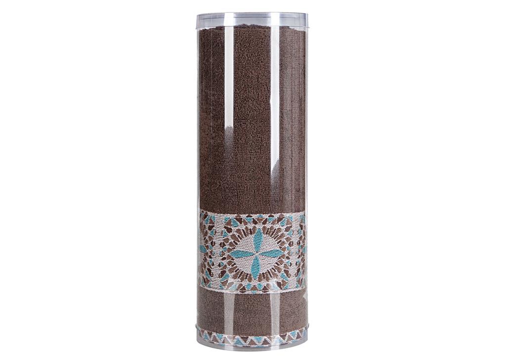"Полотенце махровое Soavita ""Eo. Radiant"", цвет: коричневый, 70 х 140 см 83077"