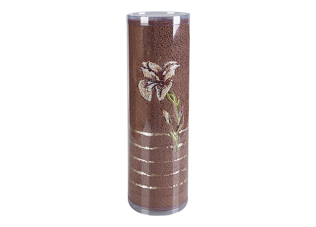 "Полотенце махровое Soavita ""Df. Iris"", цвет: коричневый, 70 х 140 см 83113"