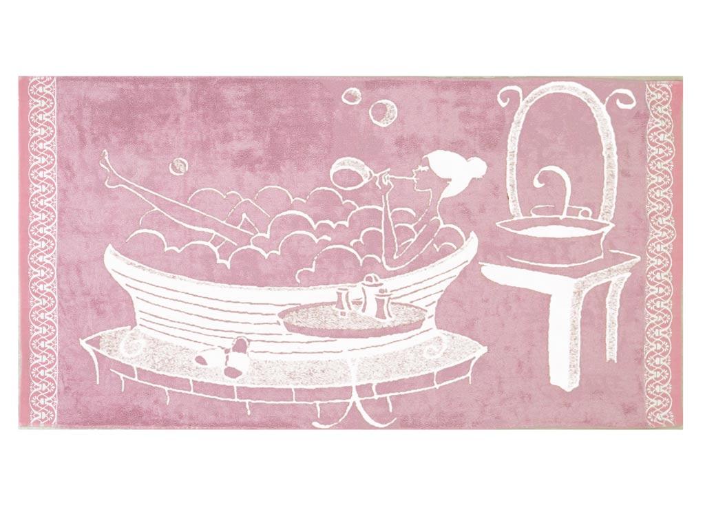 Полотенце Soavita Premium. Женское, цвет: розовый, 70 х 140 см45592Перед использованием постирать при температуре не выше 40 градусов