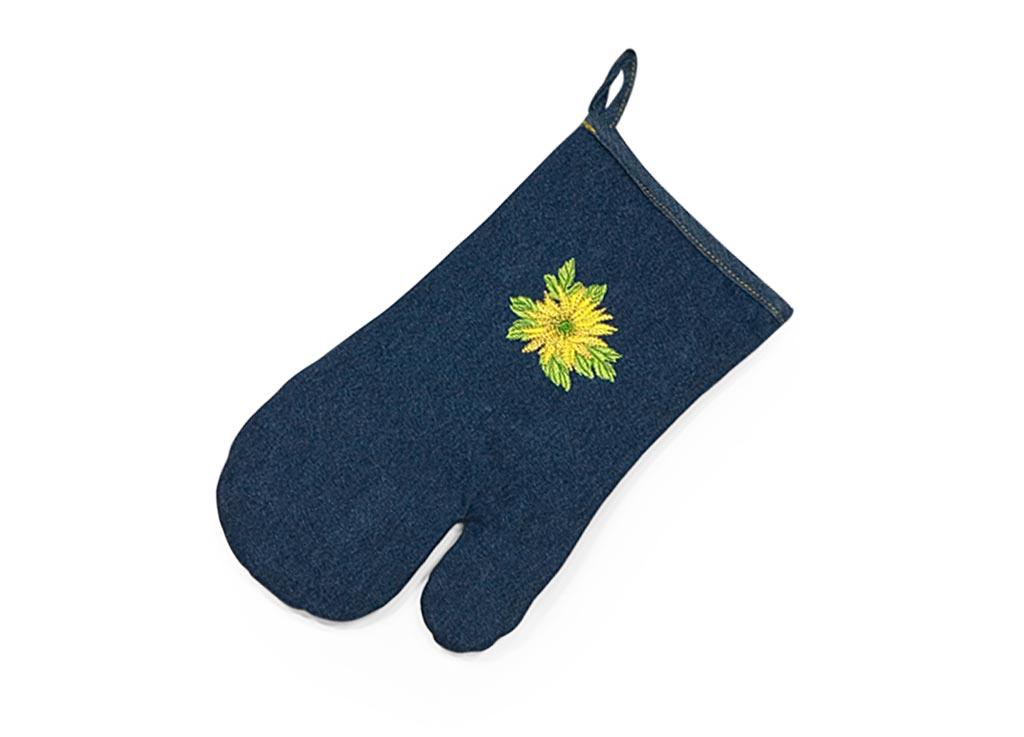 Варежка-прихватка Soavita Цветок, цвет: синий, 18 х 30 см49138Перед использованием постирать при температуре не выше 40 градусов